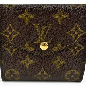 "Louis Vuitton ""Elise"" - Brown ""Lv"" Logo Wallet (MU"